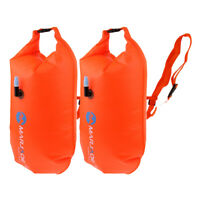 2Pcs Inflatable Swimming Dry Bag Waterproof Storage Floating Buoy Equipment