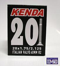 Coppia camera d'aria KENDA 20 x 1,75 - 2,125 valvola italiana per bicicletta MTB