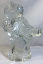 Vintage Crystal Clear Angel Candle Holder Estate Find Free Shipping