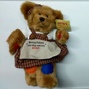 """Ruby The Bear With Diabetes 10"""" Plush"""