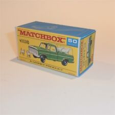 Matchbox Lesney 50 c Ford Kennel Truck empty Repro F style Box with Autosteer