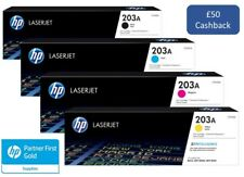 Genuine HP 203A Black Cyan Magenta Yellow Toner Set VAT inc - £50 Cashback*
