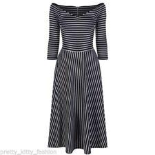 Vestiti da donna maniche a 3/4 a fantasia righe taglia 42