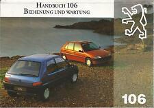 PEUGEOT 106  S1 Betriebsanleitung 1994 Bedienungsanleitung Handbuch Bordbuch  BA