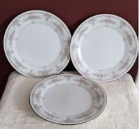 Noritake Veranda 3015 3ct Salad Plate / Platinum Trim