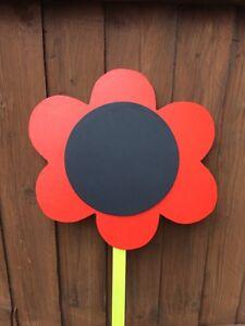 Children's Outdoor Flower Chalkboard Garden Handmade 1 X Flower