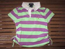 Polo RALPH LAUREN vert violet manches courtes filles 6 ans