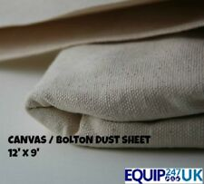 CANVAS   DROP CLOTH  EXTRA HEAVY BOLTON 100% COTTON DECORATORS LARGE DUST SHEET