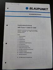 Original Kundendienstschrift  Funktionsbeschreibung  Blaupunkt  T-3300 / XT-3400