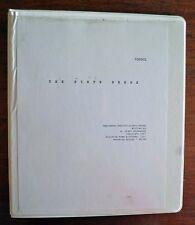 THE SIXTH SENSE Original Numbered Shooting Script
