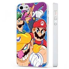 Super Mario 90S Nintendo Juego Funda De Teléfono Blanco encaja iPHONE