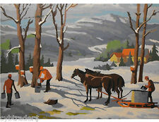 Maple Syrup Scene  Paint By Number  Refrigerator / Tool  Box  Magnet