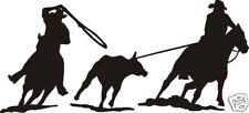 Cowboy Team Steer Calf Roper Decal Saddle Bridle