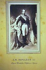 BELLE PHOTOGRAPHIE ANCIENNE NAPOLEON III d'après Winterhalter tirage Scd Empire