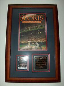 1st Issue Sports Illustrated Magazine w/ Signed Ed Mathews Fleer GOTG Auto Card