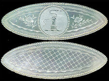 SNAKE-HAND Armorial Elipse c.1780 Chinese Mother of Pearl Rare MINT Game Counter