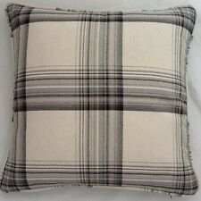 A 16 Inch Cushion Cover In Laura Ashley Brodie Charcoal Fabric