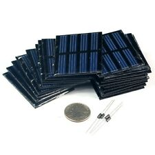 30pcs Epoxy Covered Solar Panel 2V 150mA 55x45mm & about 2.2inches by 1.8inches