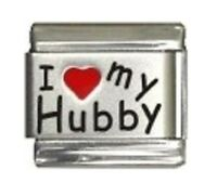 9mm  Italian Charm L27 Husband  I Love my Hubby Fits Classic Size Bracelet