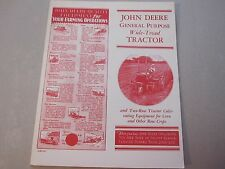 Reprint 1931 John Deere General Purpose Wide Tread Tractor LOTS More Listed