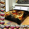 Double Sided 2 Ply Heavy Thick Soft & Warm Bed Blanket King Size