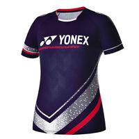YONEX 19 F/W Women's Round T-Shirts Badminton Apparel Clothing Navy 93TS014F