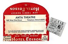 "Rex Harrison ""FIGHTING COCK"" Roddy McDowall 1960 Broadway Envelope / Ticket Stub"