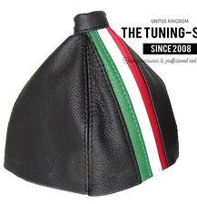 For Alfa Romeo 159 05-11 Gear Gaiter Black Leather Italy Stripes