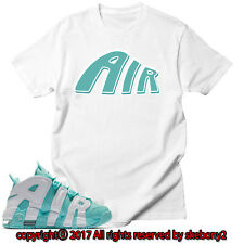 NEW CUSTOM TEE Nike Air More Uptempo matching T SHIRT UTP 1-9-1 ISLAND GREEN