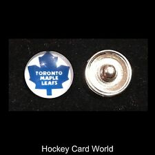 (HCW) Toronto Maple Leafs NHL Snap Ginger Button Jewelry for Jackets, Bracelets.