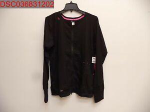 NWT - KOI Lite Women's Clarity Scrub Jacket, Black, Size XL, 843515260299