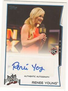 RENEE YOUNG - WWE 2014 - AUTHENTIC AUTOGRAPH AUTO CARD - TOPPS 2014