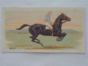 Horse Racing History 1906 Wills Melbourne Cup Winners Card - 1881 - Zulu