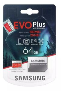 Samsung 64GB Micro SD Memorycard Class10 U1 For Vodafone Smart Platinum  Full HD