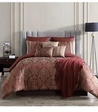 Verlaine 10-Piece Full/Queen Comforter Set in Red/Gold