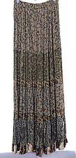 ANNA KONYA vintage boho printed gypsy hippie festival skirt one size