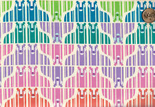 ROARRR  Rainbow Striped Lion Print Cotton Fabric  BTY