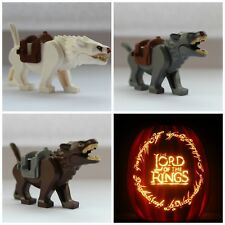 Lord Of The Rings The Hobbit Wargs Wolves Wolf  Toy Mini Figures use with lego