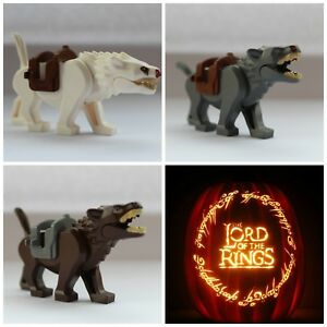 Lord Of The Rings The Hobbit Wargs Wolves Wolf Toy Mini Figures Models Monsters