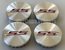"""(SET OF 4) 2005-2017 Chevrolet SS Brushed Silver 68mm Center Caps 2 5/8"""" 9595010"""