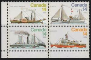 Canada 1977  - #779a - Ice Vessels (se-tenant block of 4) MNH - Value $1.80