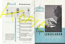 Emil Busch Rathenow Lupen Lesegläser Winkelprismen Katalog 1936