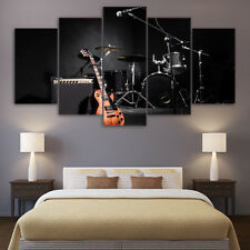 Modern Abstract Oil Painting Wall Decor Art Huge - guitar Shelf drum 5p