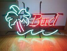 (VTG) BUDWEISER BUD LIGHT BEER PALM TREE & WATER NEON LITE UP SIGN ANHEUSER BUSH