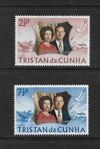 1972 TRISTAN da CUNHA Royal Silver Wedding Set MNH (SG 174-175)