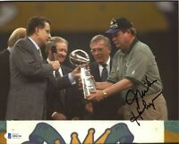 Mike Holmgren Packers Super Bowl Signed 8x10 Photo Autograph Auto BAS Beckett *8