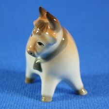 Bull with Bell Figurine Lomonosov Porcelain Russia USSR  LFZ