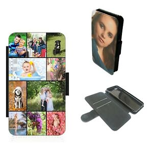 Wallet Phone Case Personalised Photo collage flip cover - For iPhone Samsung