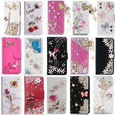 Flip Wallet Case Bling Leather Stand Cover For LG G5 G6 G7 V10 V20 V30 Q6 Q7 Q8