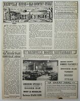 Nashville House Restaurant Brown County Country Store Indiana Newsletter 1952